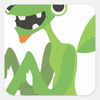 gajo, design animal legal bonito dos desenhos adesivo quadrado