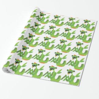 gajo, design animal legal bonito dos desenhos papel de presente
