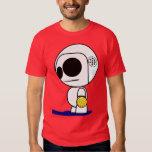 Gajo dos desenhos animados do jogador do pólo camiseta