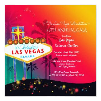 Gala anual glamoroso da caridade de Las Vegas Convite Quadrado 13.35 X 13.35cm