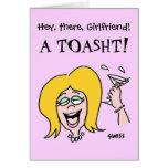 Galão engraçado ao feliz aniversario dos desenhos  cartoes