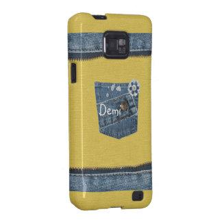 Galáxia azul amarela S2 de Samsung do impressão da Capa Samsung Galaxy S2