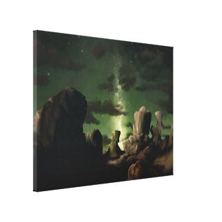 Galáxia - canvas de pintura estrelados 18x24 de Di Impressão De Canvas Envolvida