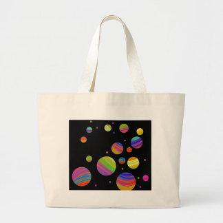 Galáxia colorida bolsa tote grande