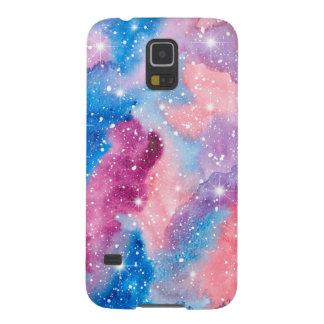 Galáxia da aguarela da arte do espaço capinhas galaxy s5
