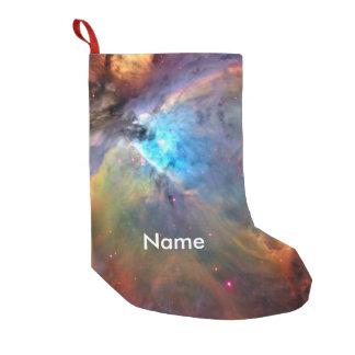 Galáxia do espaço da nebulosa de Orion Bota De Natal Pequena