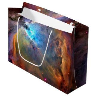 Galáxia do espaço da nebulosa de Orion Sacola Para Presentes Grande