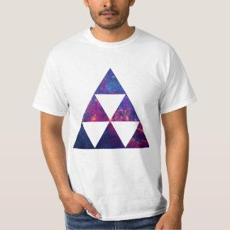 Galáxia do hipster/triângulo do espaço camiseta