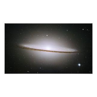 Galáxia do Sombrero (telescópio de Hubble) Impressão De Foto