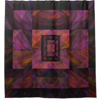 Galáxia escura colorida de trabalhos de arte dos cortina para chuveiro