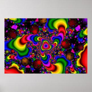 Galáxia psicadélico poster