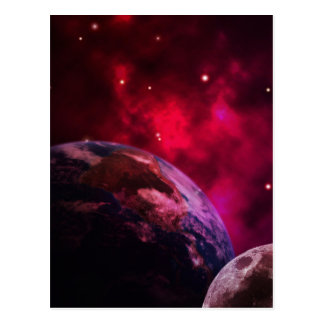 Galáxia roxa 2 - purple galaxy cartão postal