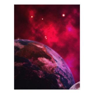 Galáxia roxa 2 - purple galaxy papel timbrado