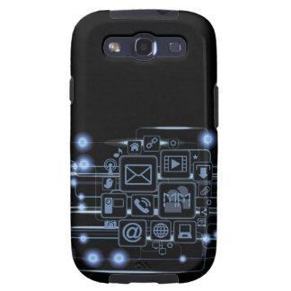 Galáxia S3 de Samsung das iniciais do conceito da Capas Personalizadas Samsung Galaxy S3