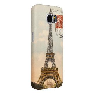 Galáxia S6 de Samsung da torre Eiffel do vintage Capas Samsung Galaxy S6