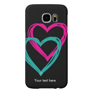 """""""galáxia S6 de Samsung do coração 2"""", mal lá Capas Samsung Galaxy S6"""