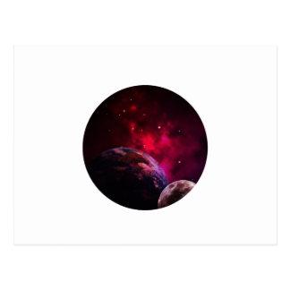 Galaxy Purple 1 - Gláxia roxa Cartão Postal