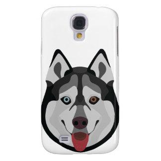 Galaxy S4 Case A ilustração persegue o rouco Siberian da cara