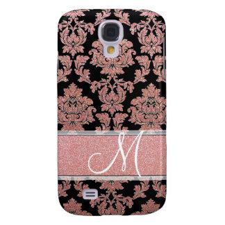 Galaxy S4 Case Brilho cor-de-rosa do ouro & do pêssego & damasco