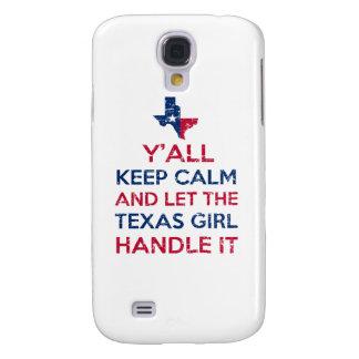 Galaxy S4 Case Camisetas da menina de Texas