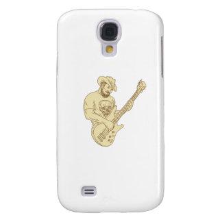Galaxy S4 Case Desenho isolado da guitarra baixa do vaqueiro
