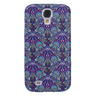 Galaxy S4 Case Design floral do teste padrão do abstrato da