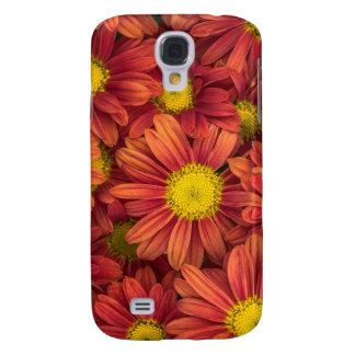 Galaxy S4 Case Flores alaranjadas
