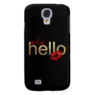 """Galaxy S4 Case Galáxia S """"porque olá!"""" caixa da folha de ouro"""