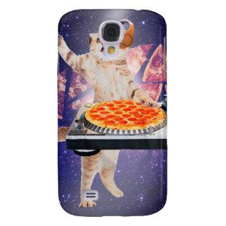 Galaxy S4 Case gato do DJ - gato DJ - gato do espaço - pizza do