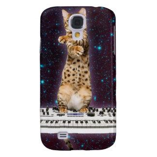 Galaxy S4 Case gato do teclado - gatos engraçados - amantes do