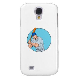 Galaxy S4 Case Jogador de beisebol que guardara o desenho do