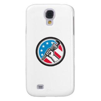 Galaxy S4 Case Lado Circ angular da bandeira dos EUA da chave de