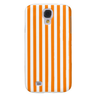 Galaxy S4 Case Listras finas - branco e laranja