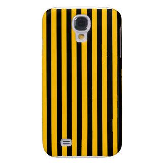 Galaxy S4 Case Listras finas - preto e âmbar
