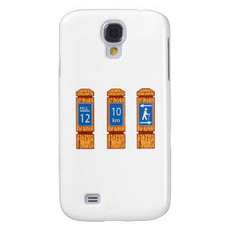 Galaxy S4 Case O marcador de madeira da milha assina retro