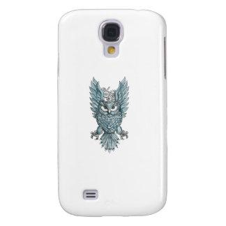 Galaxy S4 Case O pulso de disparo Swooping das asas da coruja