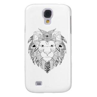 Galaxy S4 Case Os leões enfrentam na linha preto e branco