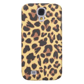Galaxy S4 Case Padrões da pele animal do impressão do leopardo