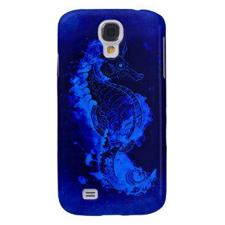 Galaxy S4 Case Pintura azul do cavalo marinho
