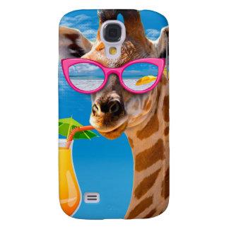 Galaxy S4 Case Praia do girafa - girafa engraçado