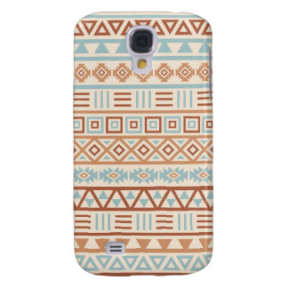 Galaxy S4 Case Terracottas astecas do azul do creme do teste