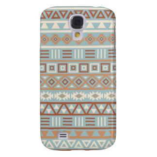 Galaxy S4 Case Terracottas de creme azuis do teste padrão asteca
