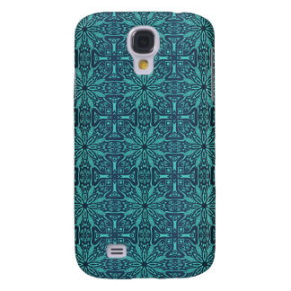 Galaxy S4 Case Teste padrão antigo real luxuoso floral
