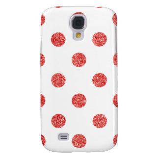 Galaxy S4 Case Teste padrão de bolinhas vermelho elegante do