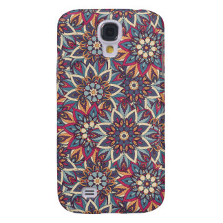 Galaxy S4 Case Teste padrão floral étnico abstrato colorido da