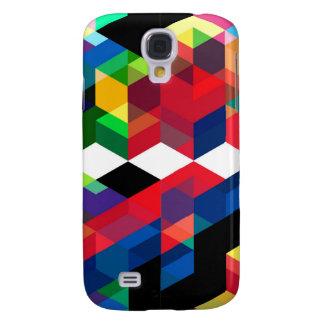 Galaxy S4 Case Teste padrão geométrico brilhante do diamante