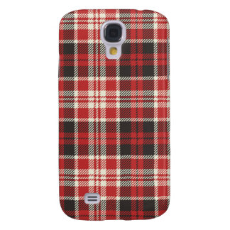 Galaxy S4 Case Teste padrão vermelho e preto da xadrez