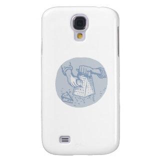 Galaxy S4 Cases Aguarela Grating do círculo do Grater Handheld do