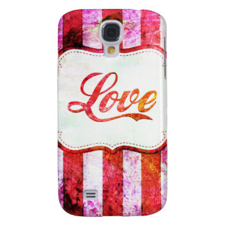 Galaxy S4 Cases Amor cor-de-rosa com listras