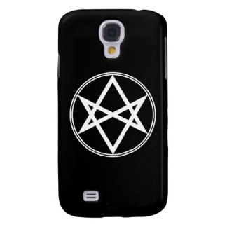 Galaxy S4 Cases Branco Unicursal do Hexagram de Falln